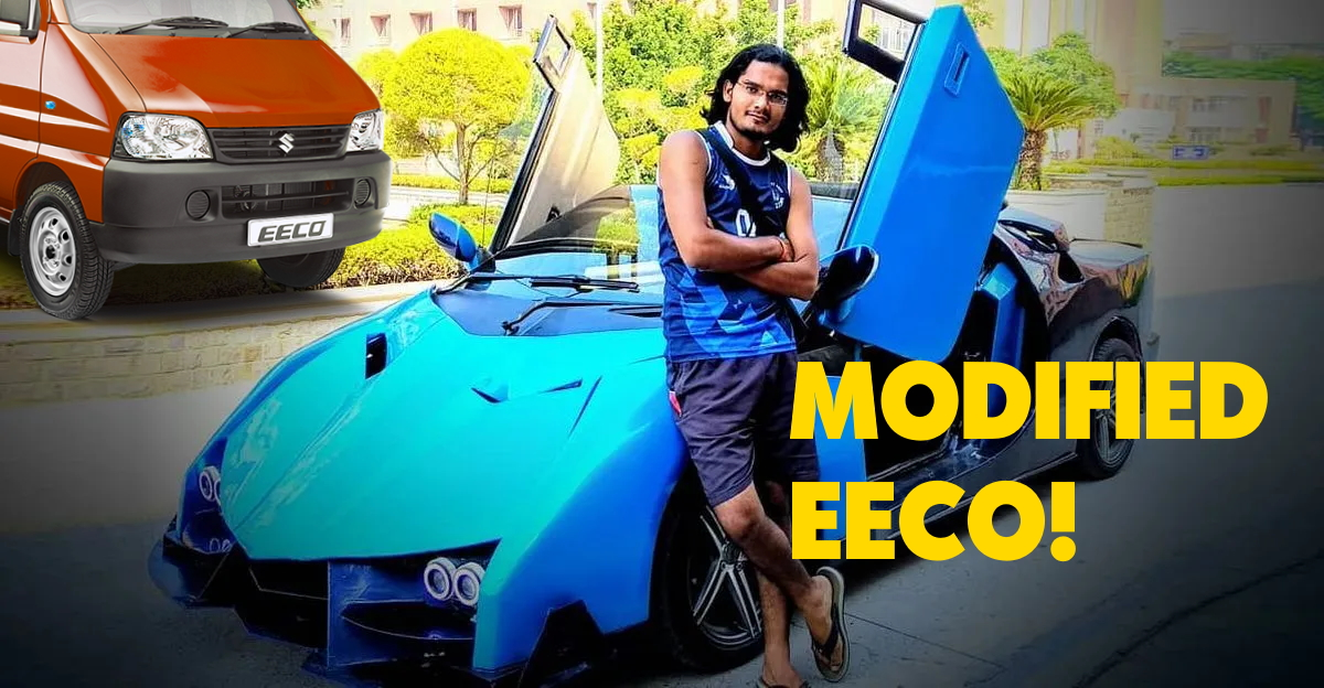 This homemade 'sportscar' is actually a Maruti Eeco [Video]