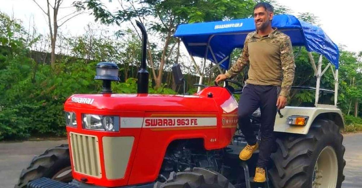 Mahendra Singh Dhoni's latest ride is a Swaraj 4X4 tractor [Video]