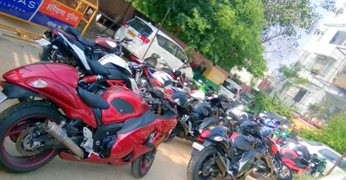 19 Superbikes SEIZED for stunting during lockdown: Bikers made to push bikes for over 1 Km [Video]