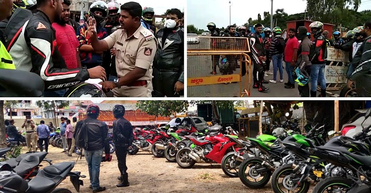 Over 100 superbikes on a group ride BUSTED for 'non-essential travel' [Video]
