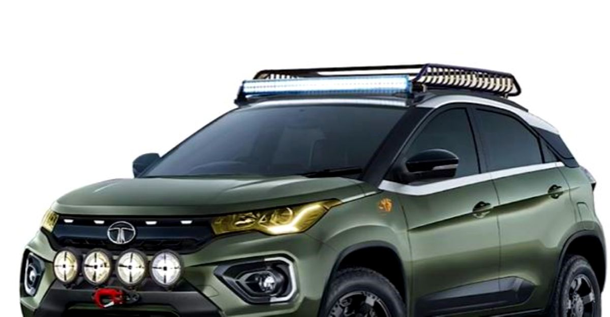 Tata Nexon modified into an off-road SUV in a render video