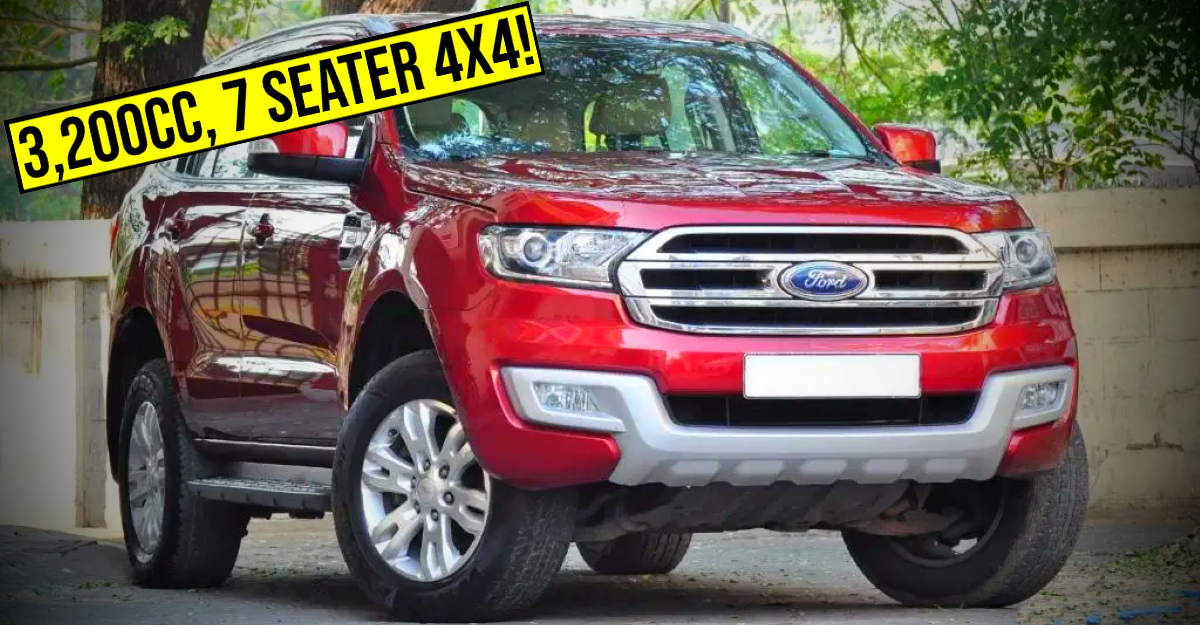 Used 3,200cc Ford Endeavour luxury SUV with 4X4 selling cheaper than a Kia Seltos