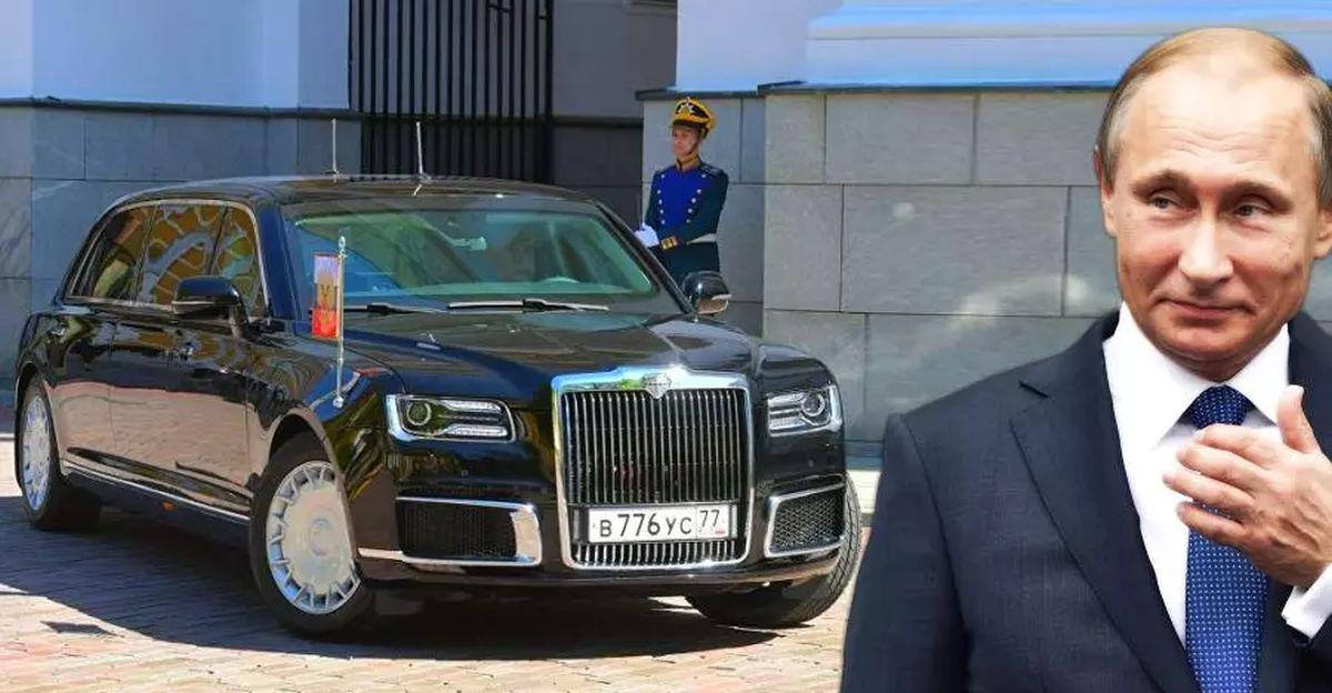 Russian President Vladimir Putin's Aurus Senat presidential limousine & other official vehicles [Video]