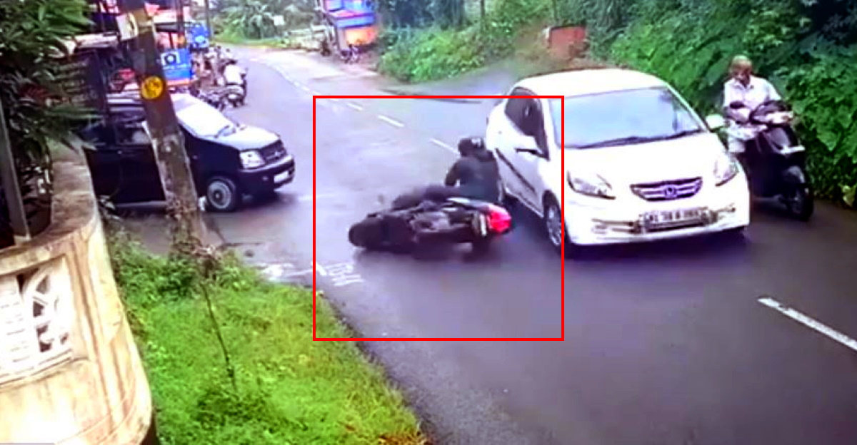 4 vehicles, one skids and crashes: Who is at fault here? [Video]