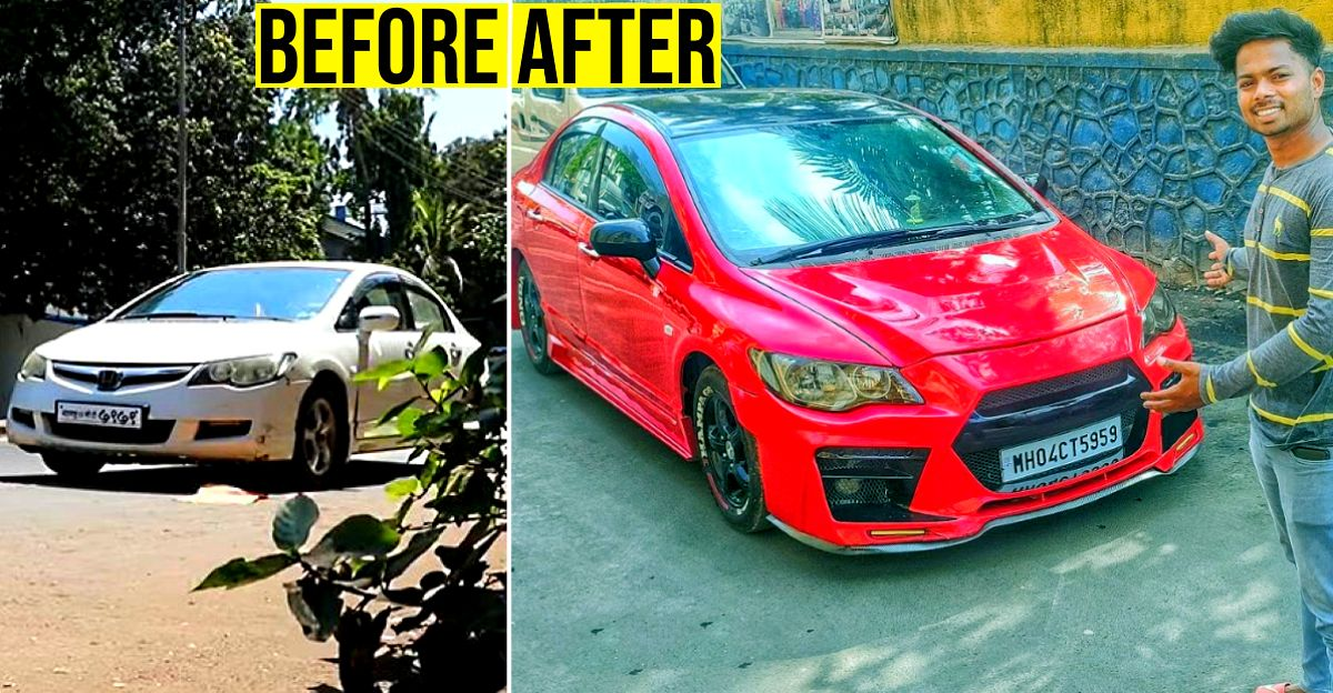Man buys Honda Civic for Rs. 50,000, transforms it: Here's the result [Video]