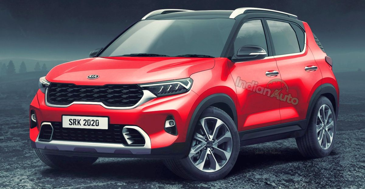 Kia Sonet sub-4 meter compact SUV production version: What it could look like
