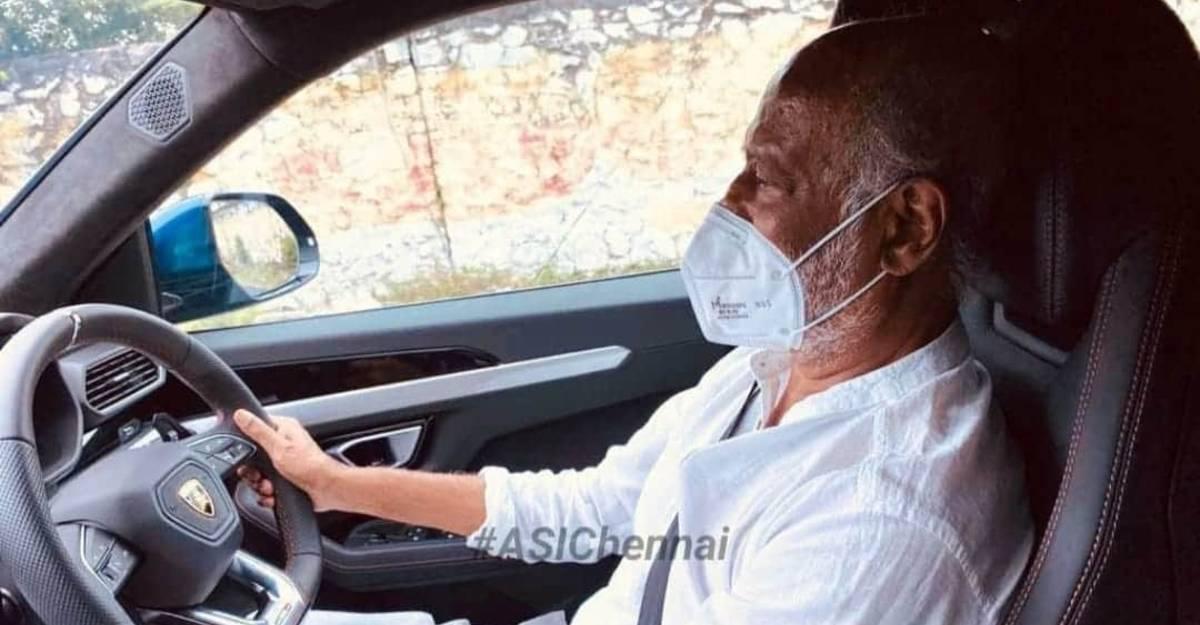 Superstar Rajnikanth spotted driving a Lamborghini Urus super SUV