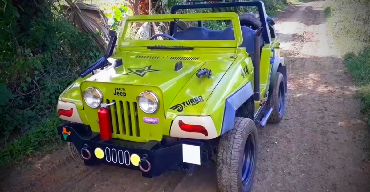 This mini Jeep is actually a Maruti 800 in disguise [video]