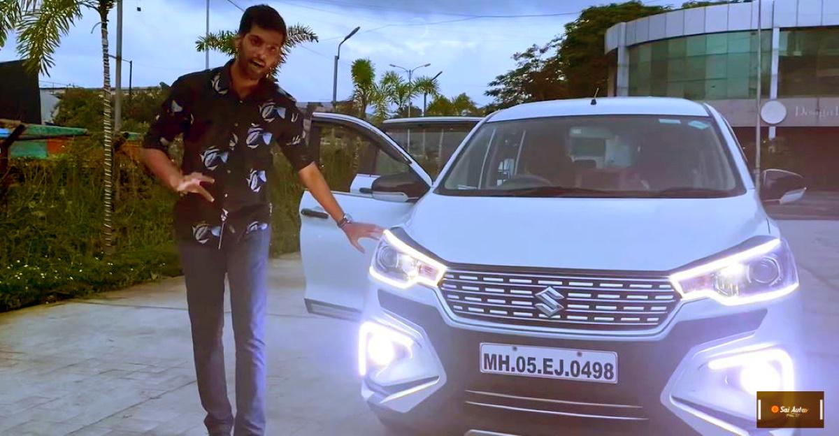 Maruti Ertiga MPV with modified interior looks beautiful [video]
