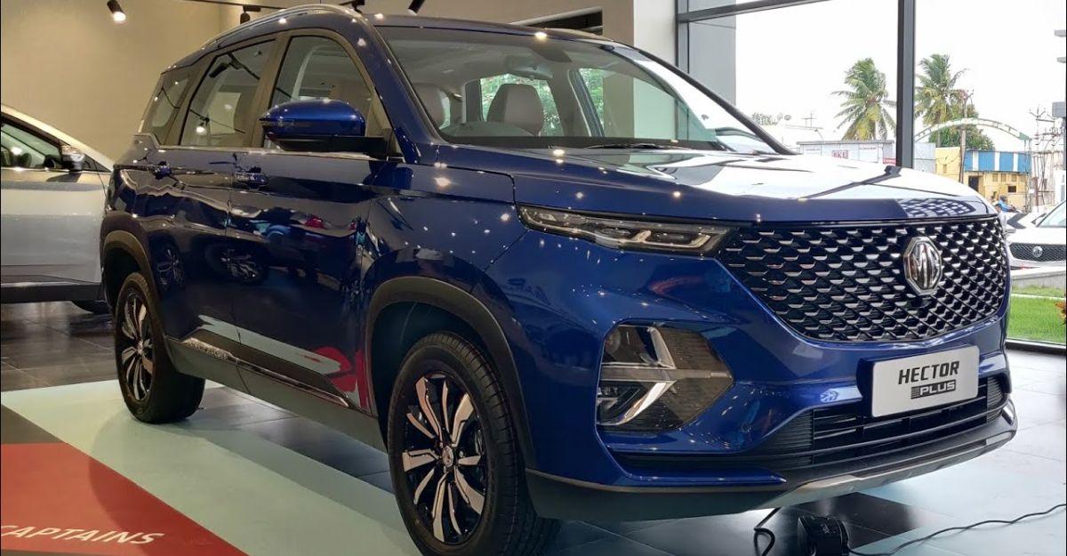 MG Hector Plus starts reaching dealerships: Walkaround video