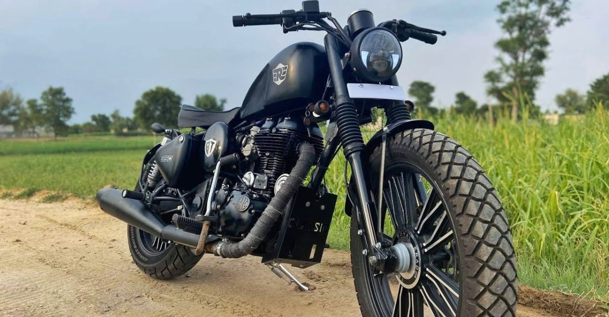 Royal Enfield Classic 350 modified into a Harley Davidson Sportster lookalike [Video]
