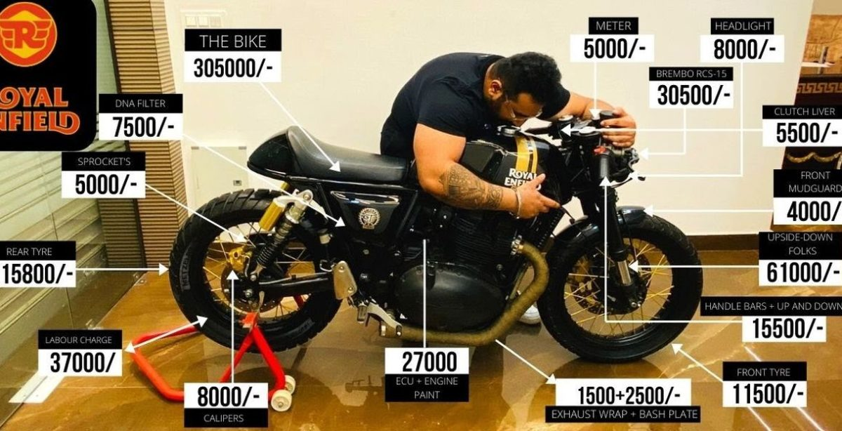 This  Royal Enfield Continental GT 650 cafe racer has modifications worth Rs 2.83 lakh [Video]