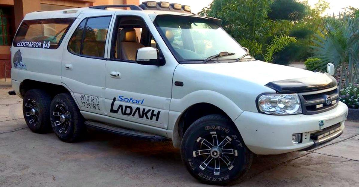Tata Safari 6X6 inspired by Ladakh edition looks brutal