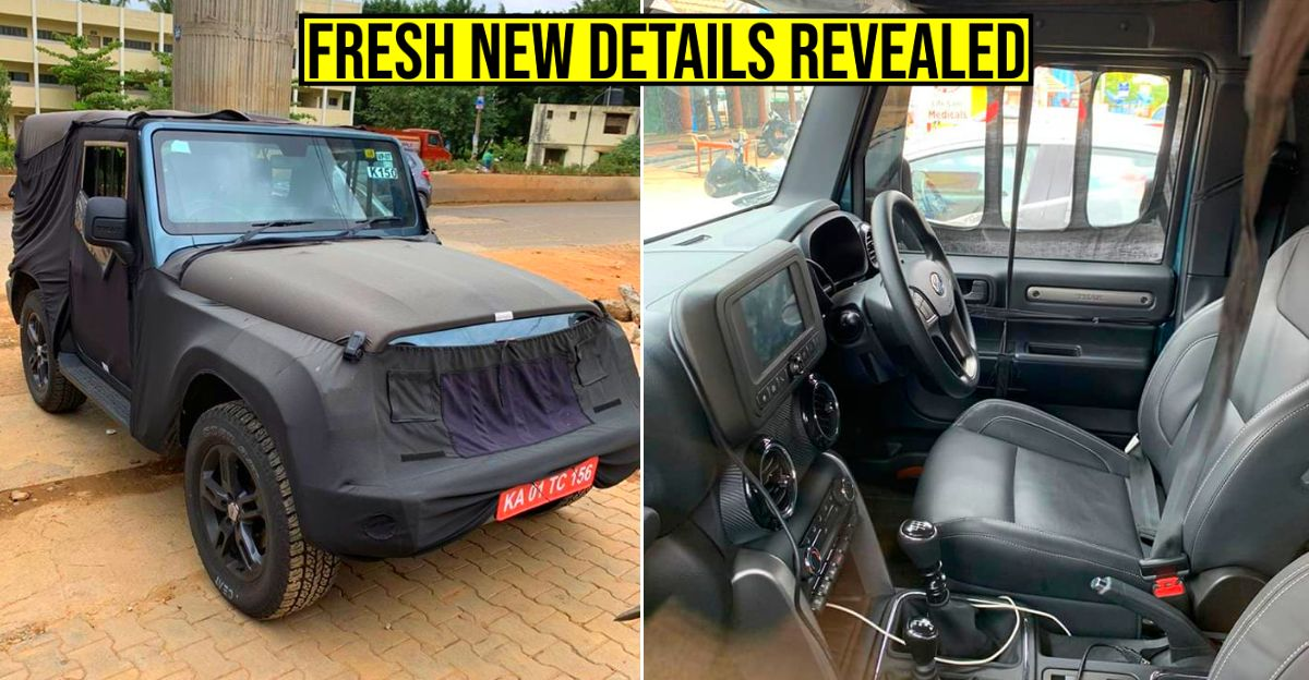 Production version of 2020 Mahindra Thar: New pictures reveal more