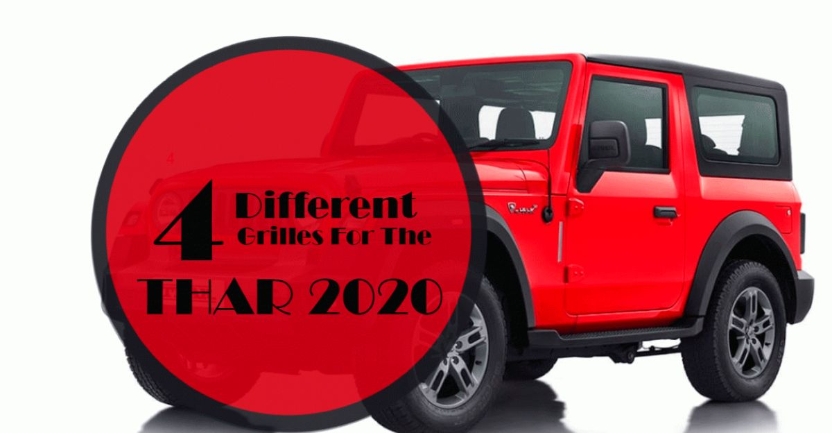 2020 all-new Mahindra Thar: Four grille options envisioned