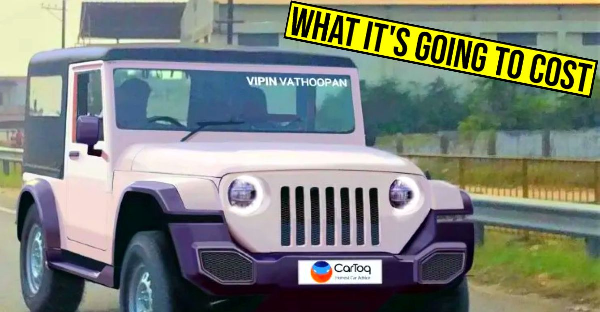 How much will the 2020 Mahindra Thar cost? Here's our guess