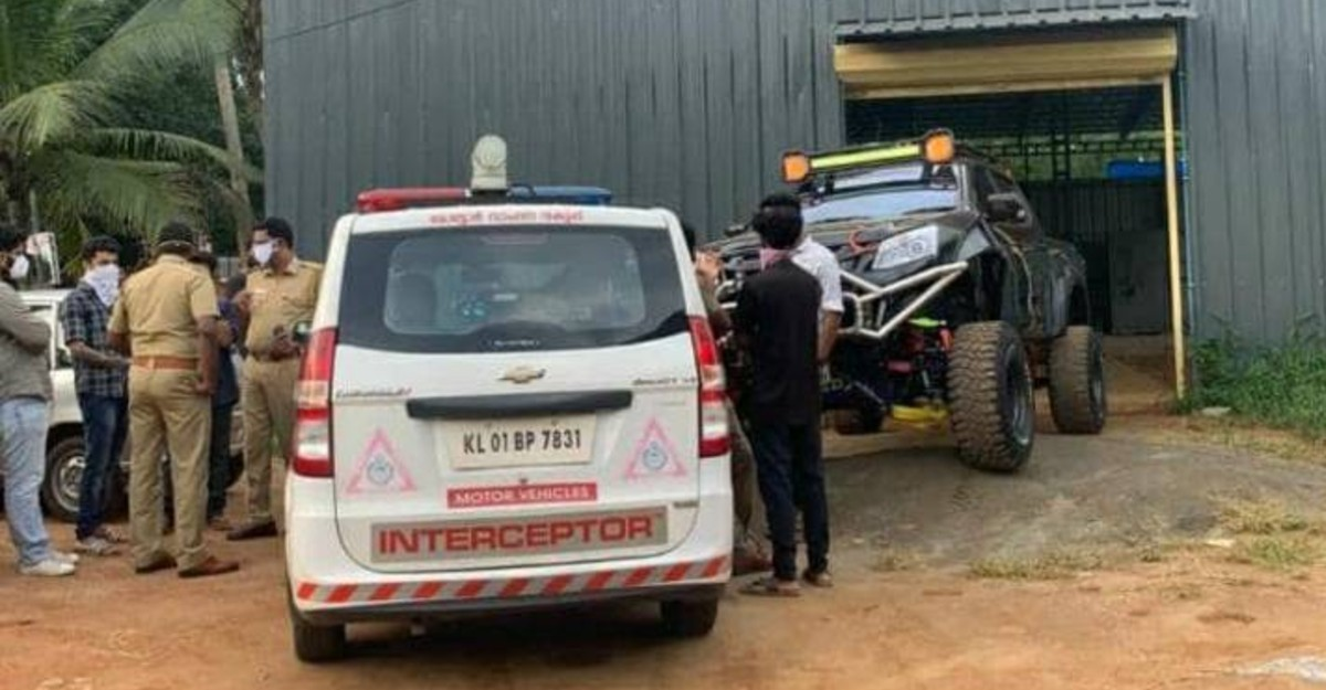 India's most famous modded Isuzu V-Max fined Rs 48,000!