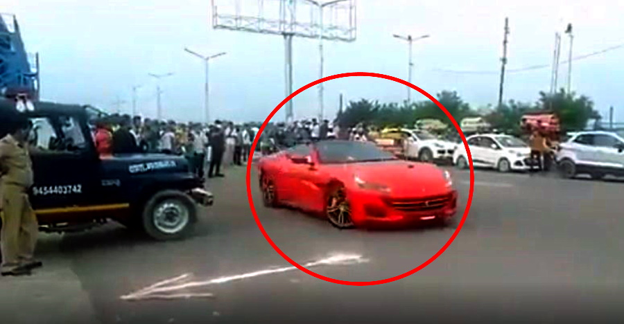 Ferrari California supercar SEIZED after driver stunts in front of police [Video]