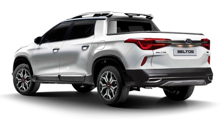 Kia Seltos SUV imagined as a pickup truck