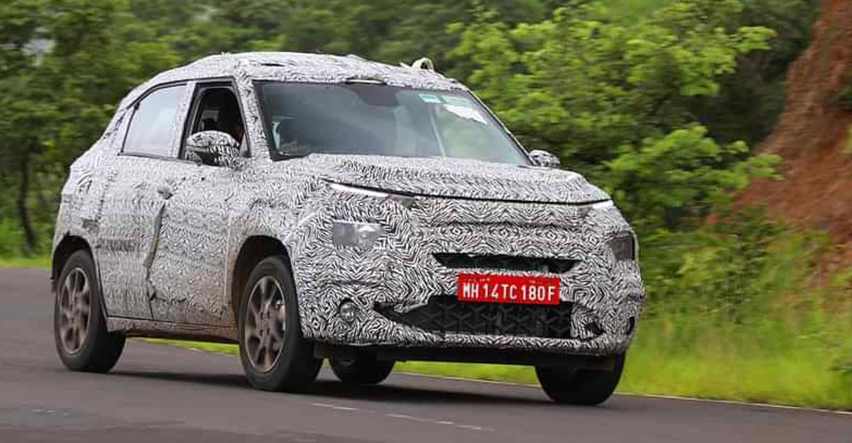 Upcoming Tata Hornbill HBX micro SUV spied testing before official launch in 2021