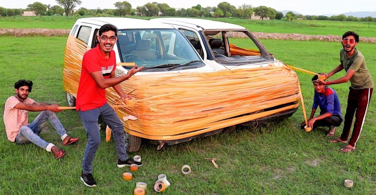 What happens when 2 Maruti Suzuki WagonRs are taped together & driven around [Video]
