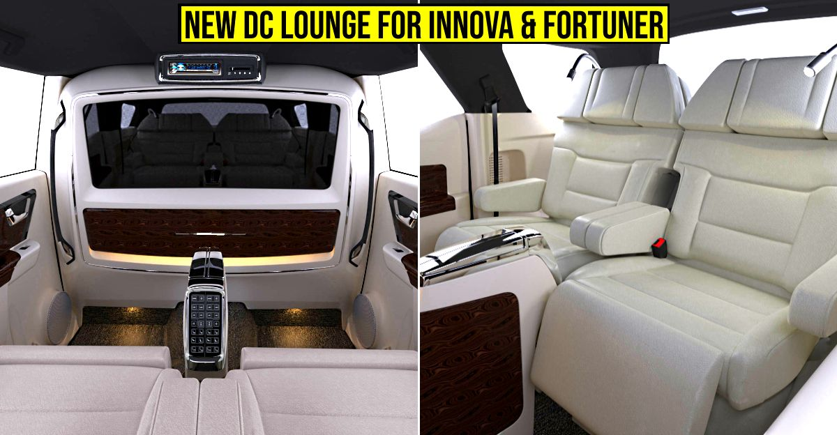 Toyota Fortuner & Innova Crysta get a new custom lounge from DC2 (DC Design)