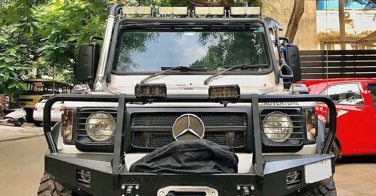 Force Gurkha tastefully modified into a Mercedes G-Wagen lookalike