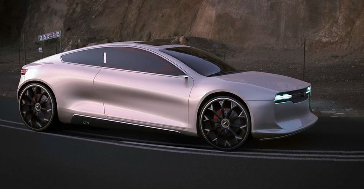 Hindustan Contessa imagined as an electric vehicle