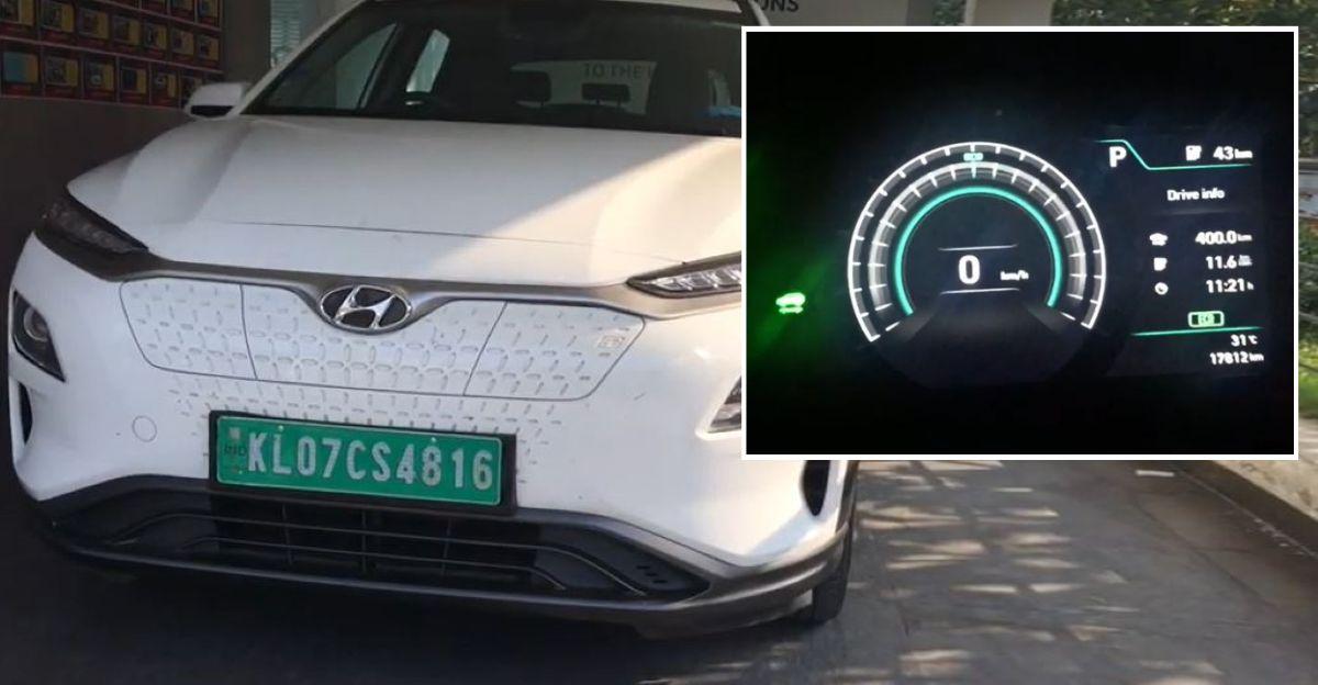 Hyundai Kona electric car goes 400 Kms on a single charge: Trivandrum to Calicut on Video