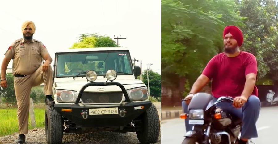 India's tallest cop needs a custom built, lifted Mahindra Bolero to fit him [Video]