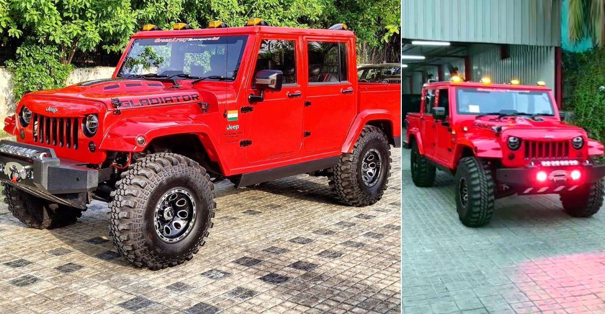 Mahindra Bolero Camper beautifully transformed into a Jeep Wrangler Gladiator [Video]