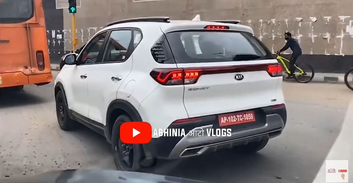 Kia Sonet SUV spied on road before official launch [Video]