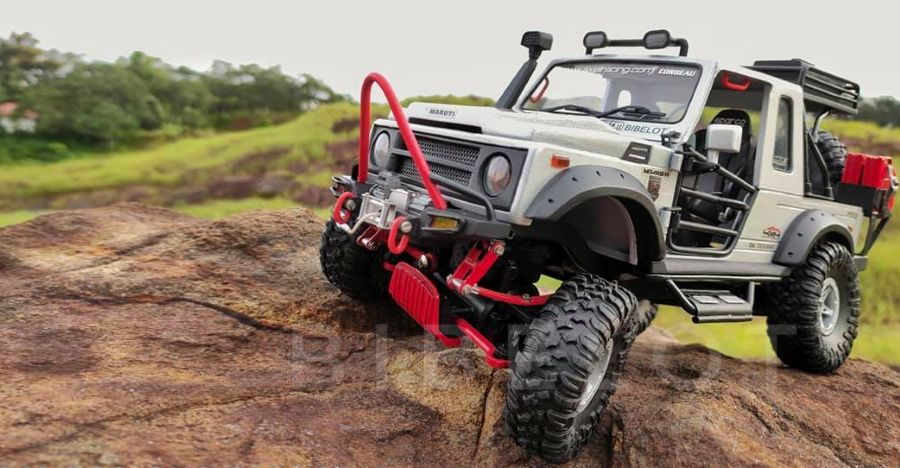 This Maruti Gypsy 4×4 off-road monster is actually a handmade miniature
