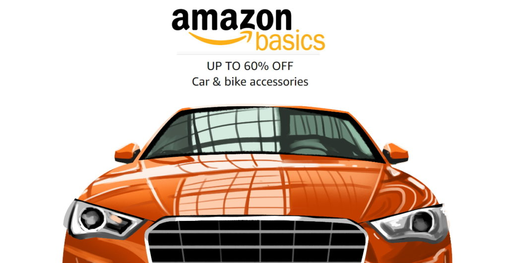 AmazonBasics car & motorcycle accessories selling at 60% discount