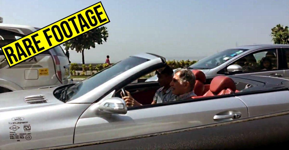 Rare video footage of Ratan Tata driving his Mercedes SL500