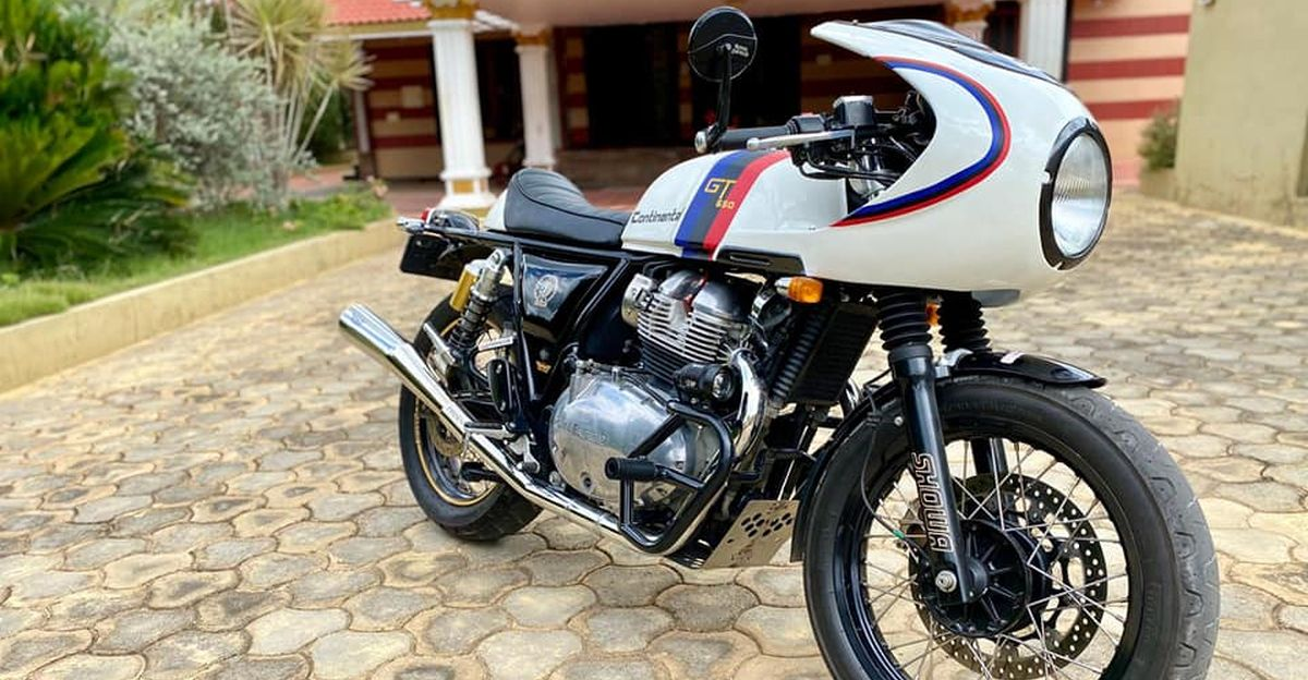 Beautiful Royal Enfield Continental GT 650 Cafe Racer with modifications worth Rs. 2 lakh for sale: CHEAPER than new