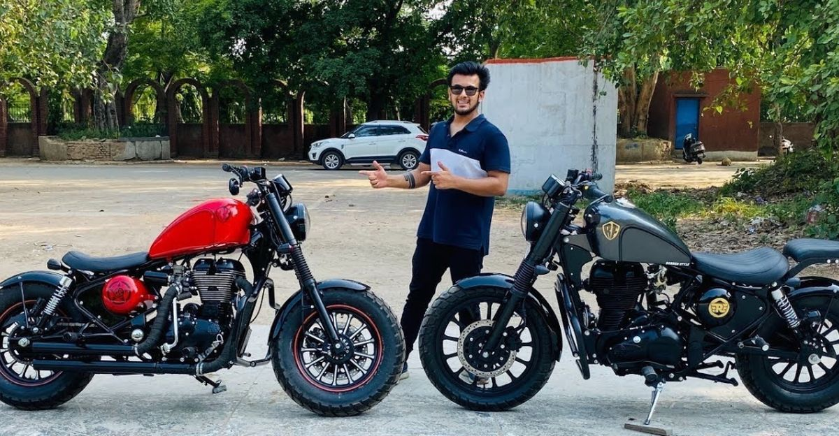 Royal Enfield motorcycles modified to look like Harley Davidsons [Video]