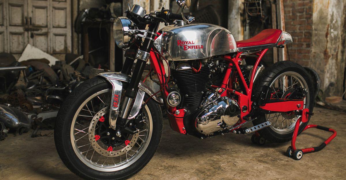 This India-made Royal Enfield 612cc custom motorcycle can hit 180 Kph