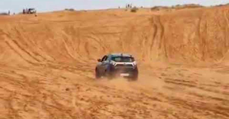 Tata Nexon climbs a STEEP 20 feet sand wall [Video]