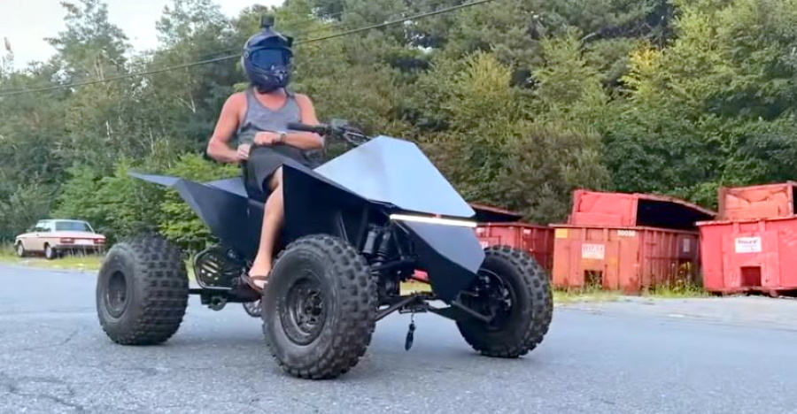 This Tesla Cyberquad-inspired electric ATV is AWESOMENESS [Video]