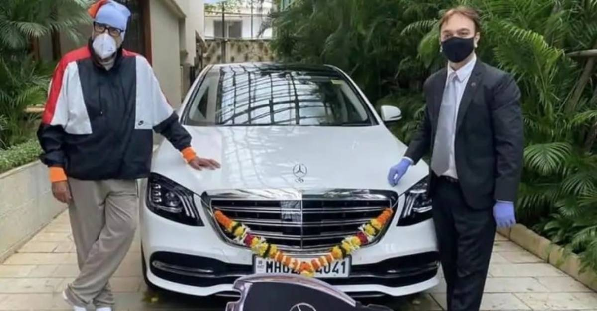 Amitabh Bachchan gets a brand-new Mercedes S-Class home delivered