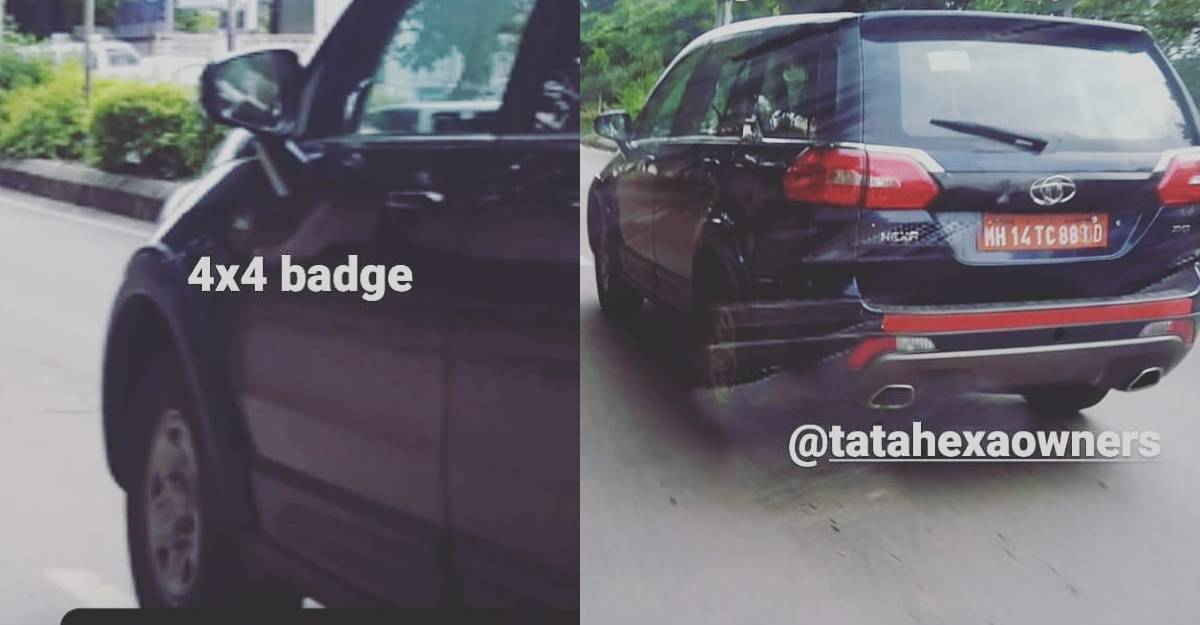 Tata Hexa 4X4 spied on test: Comeback later this year?