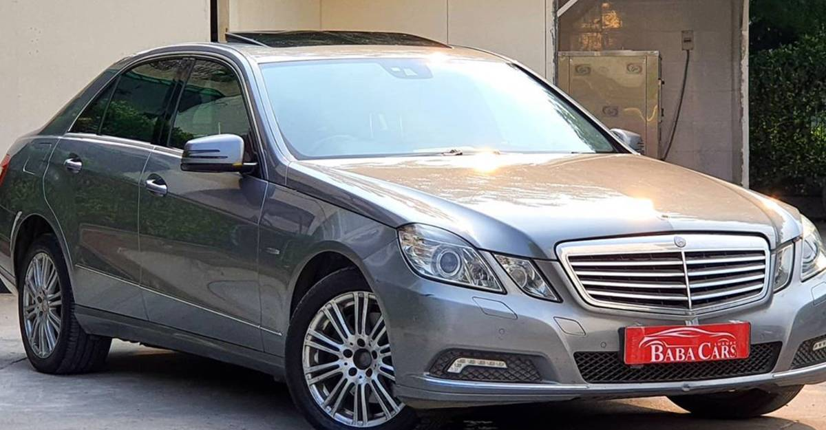 Used Mercedes E-Class with 500 Nm of BRUTE torque selling at just Rs. 5.95 lakh