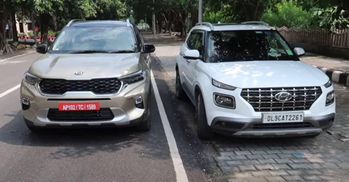 Kia Sonet vs Hyundai Venue: Compared side-by-side on Video