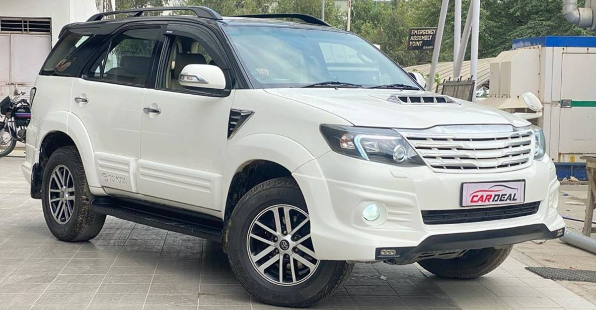 Modified Toyota Fortuner Automatic selling cheaper than a Kia Sonet