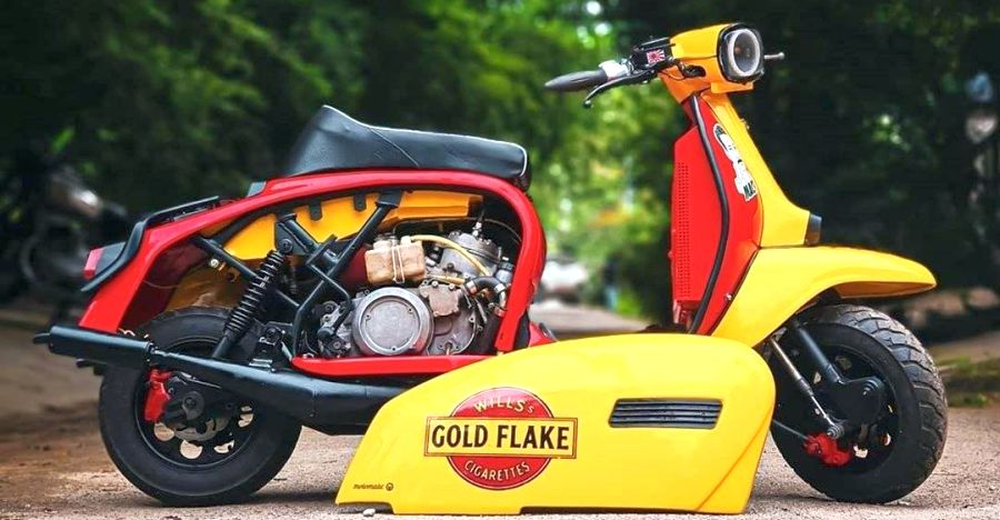 India's one & only twin cylinder Lambretta makes a WHOPPING 65 BHP
