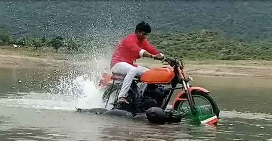 Watch home-made amphibious bike in action: Built by 19 year-old engineering student [Video]