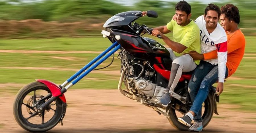 Riding India's WILDEST modified Bajaj Pulsar 220: What it's like [Video]