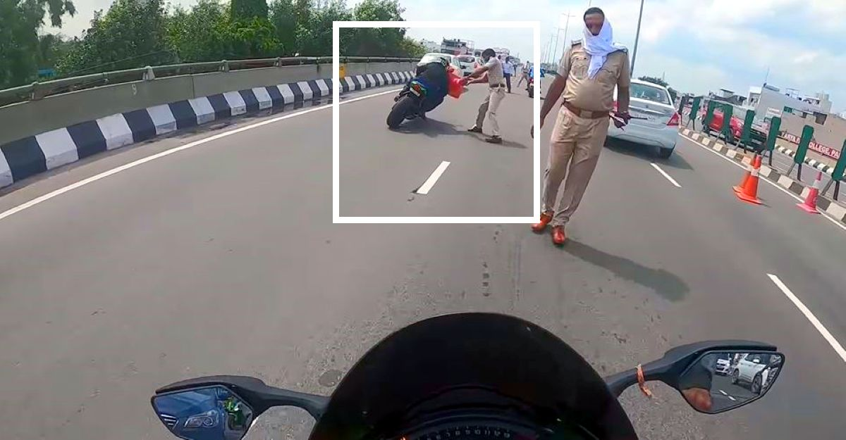 Kawasaki Ninja ZX10R Superbike rider escapes from cops without stopping: Posts video explaining his point