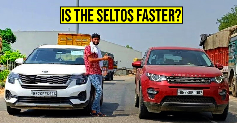 Kia Seltos vs Land Rover Discovery Sport in a classic drag race: Which SUV will win? [Video]
